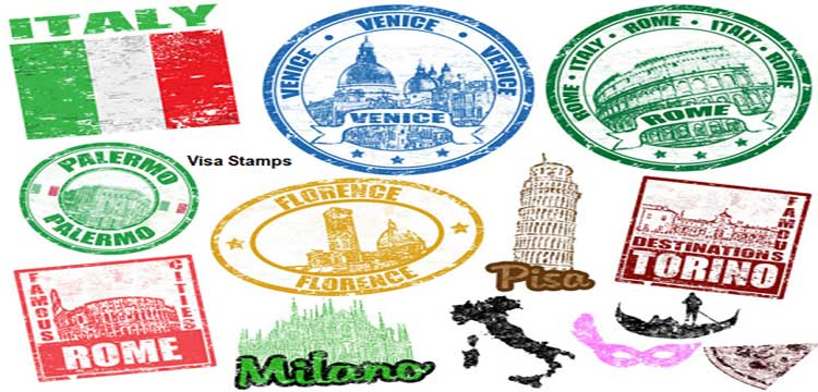 Stamp and Online Visa Application Forms
