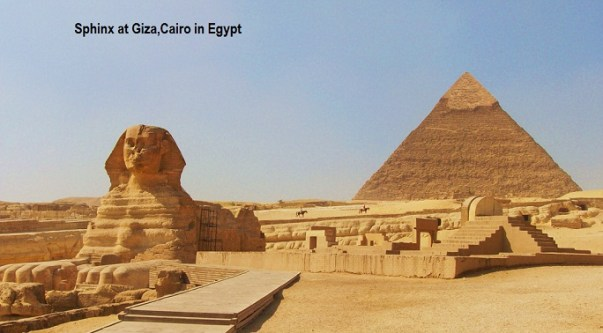 Sphinx at Giza,Cairo in Egypt