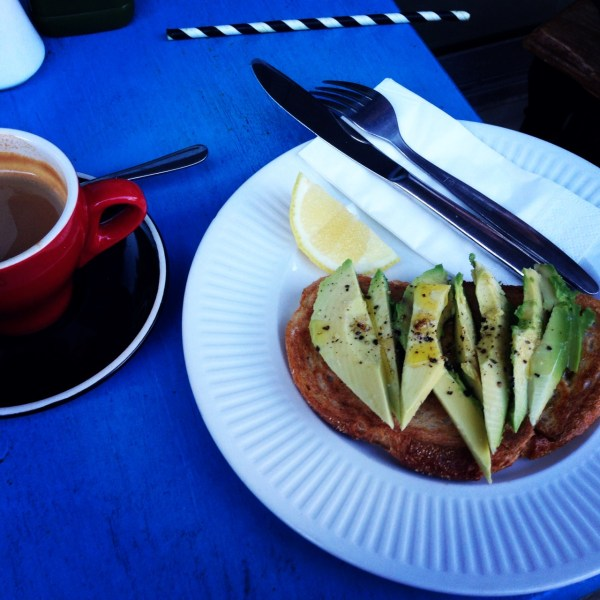 our favourite australian breakfast, avocado with lime and olive oil on toast!