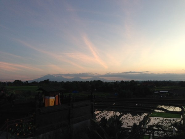 Sunrise over rice fields, Bali