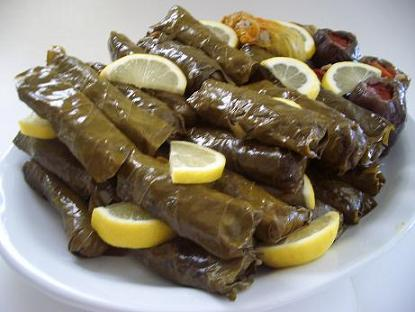 """Image result for """"Dolma""""Turan style stuffed grape leaves"""