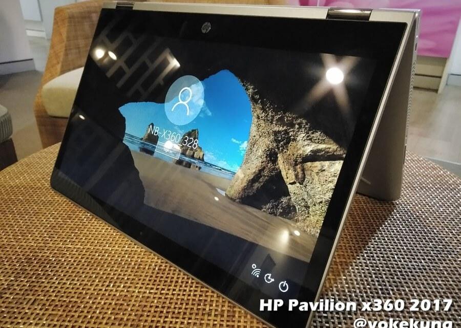 HP Pavilion x360 (2017) โน้ตบุ๊คจอสัมผัส 14 นิ้ว สลับร่างโน้ตบุ๊คและแท็บเล็ต มีปากกา Digital Pen วาดเขียนบนจอได้