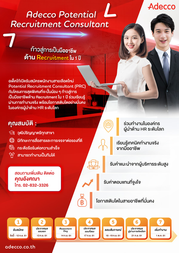 Adecco Potential Recruitment Consultant (PRC)