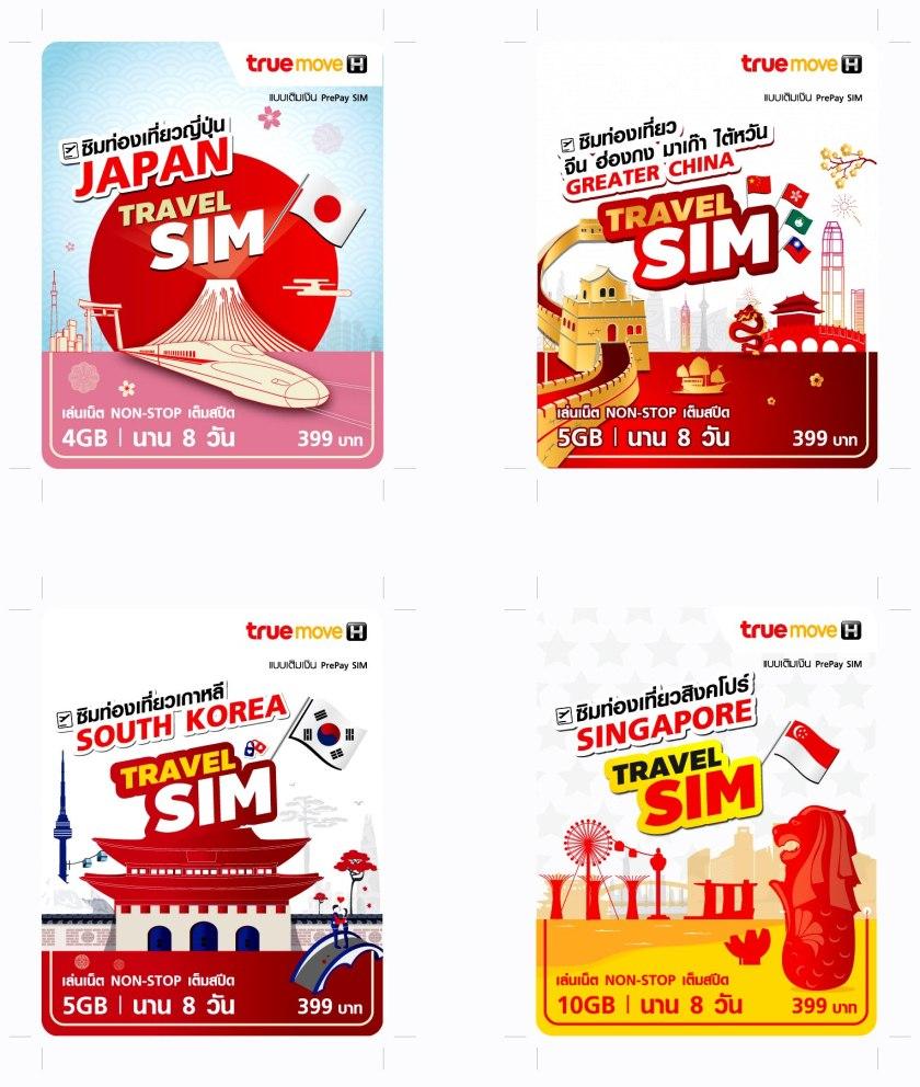 TrueMove H Travel Data Roaming SIM