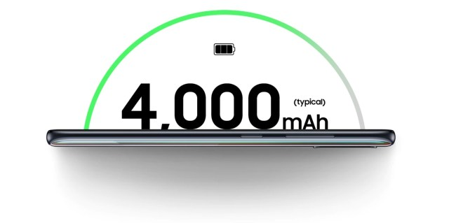 Galaxy A Series battery 4,000 mAh.