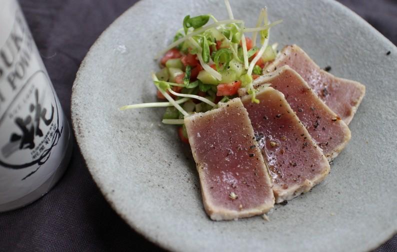 浅利妙峰さんの塩糀マグロの炙り焼き