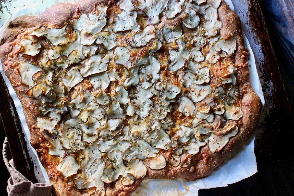 キクイモのピザ