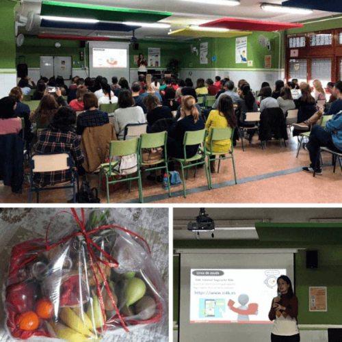 Charla como cibercooperante dentro de una Jornada de familias en Catarroja.