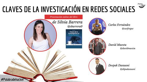 Presentación online del libro Claves de la investigación en redes sociales de Silvia Barrera en Palabra de hacker.