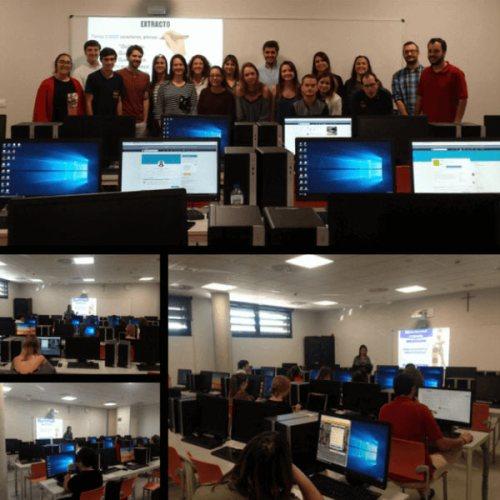 Collage con imágenes del taller de LinkedIn