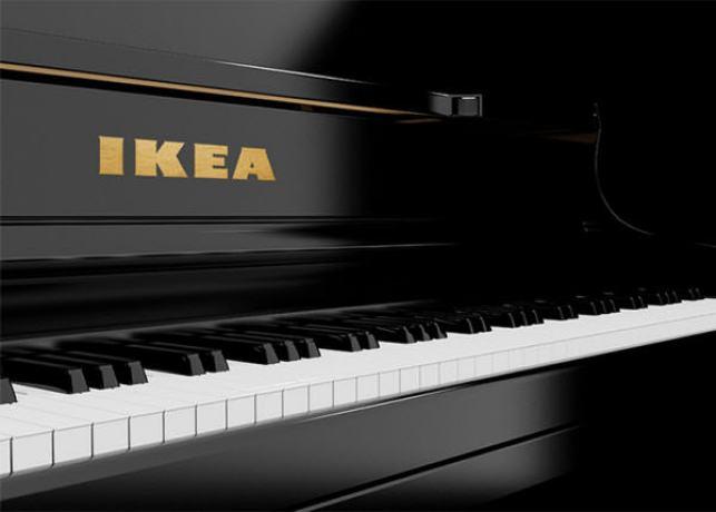 IKEA pianinas - taip, Jums teks jį susirinkti patiems.