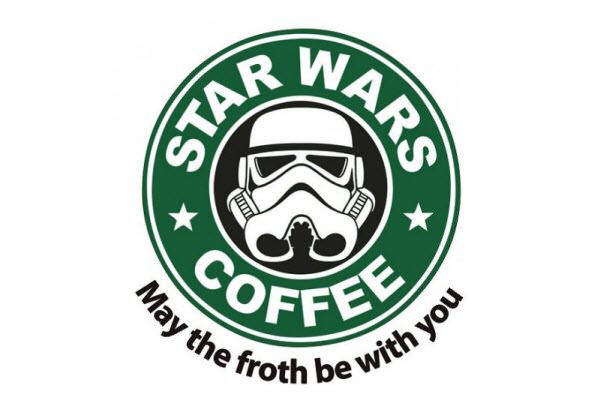 Starbucs Coffee. Nuotr. http://www.redbubble.com/people/rubyred/works/860051-star-wars-coffee