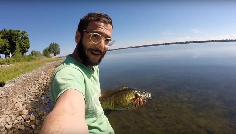 Nufilmuota - dronu sugavo didžiausią žuvį savo gyvenime (2)