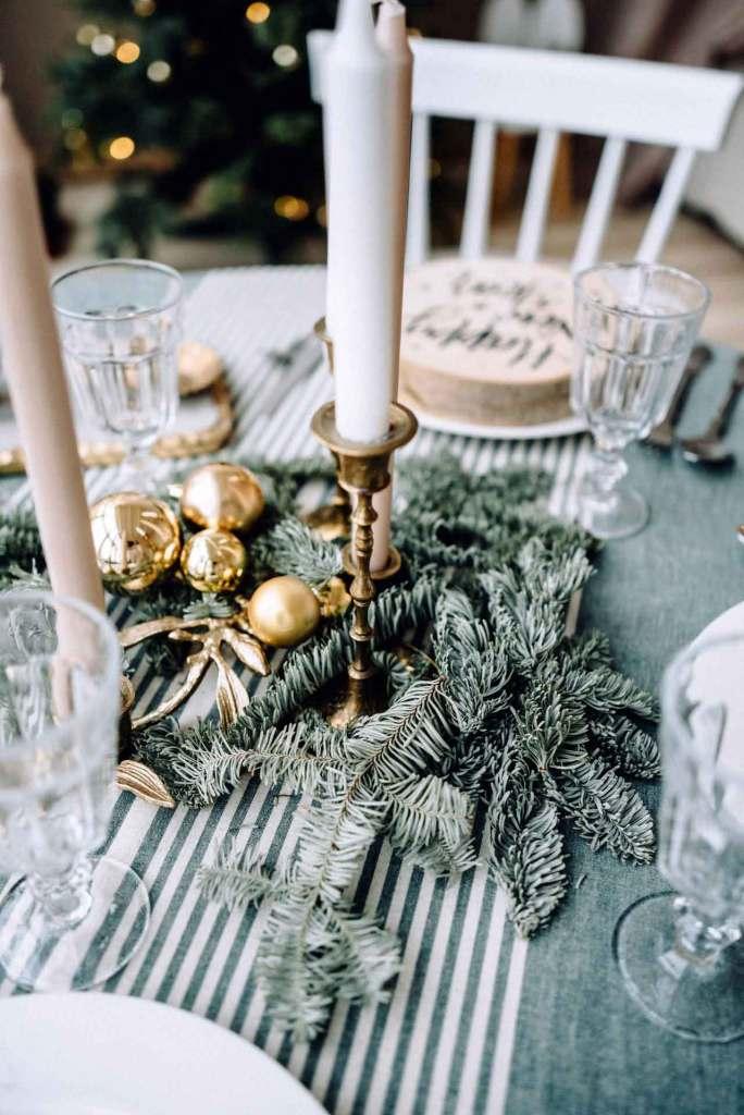 Candelabro vintage para decoración navideña