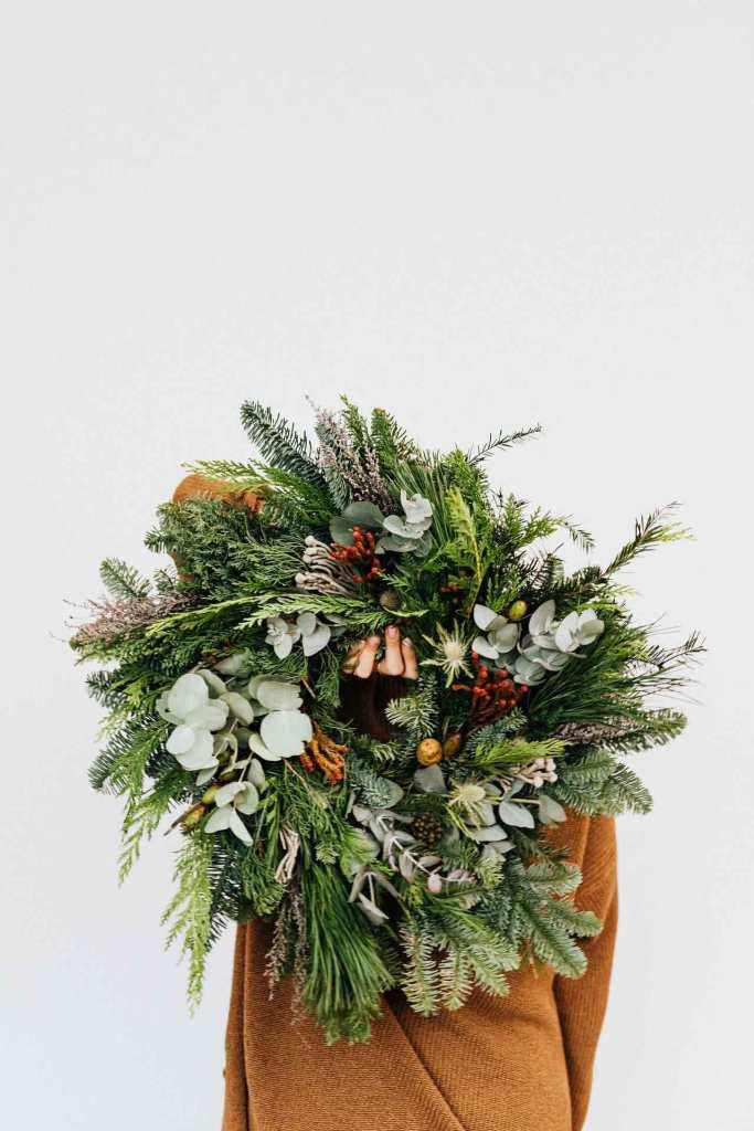 Corona vintage para decoración navideña