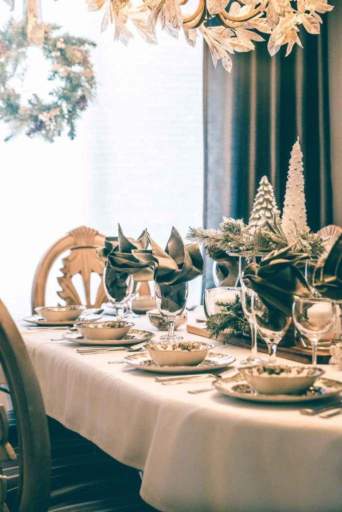 Flores Decorativas para mesas de comedor navideñas