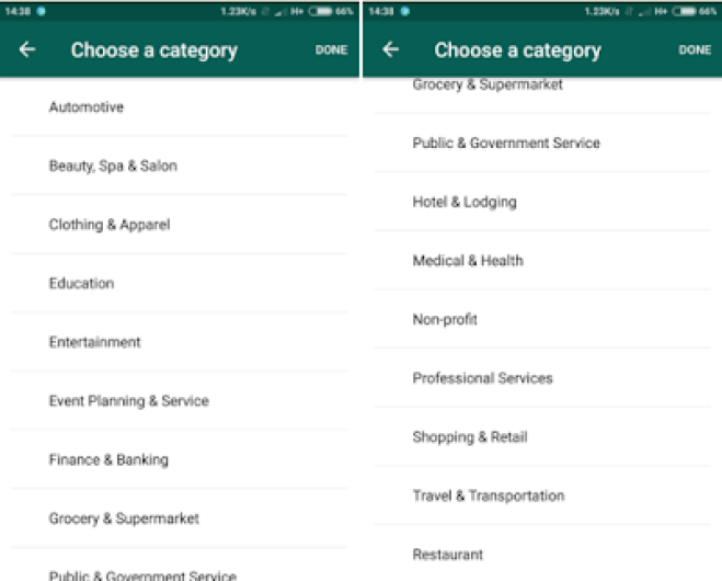 Whatsapp business registration and other stores