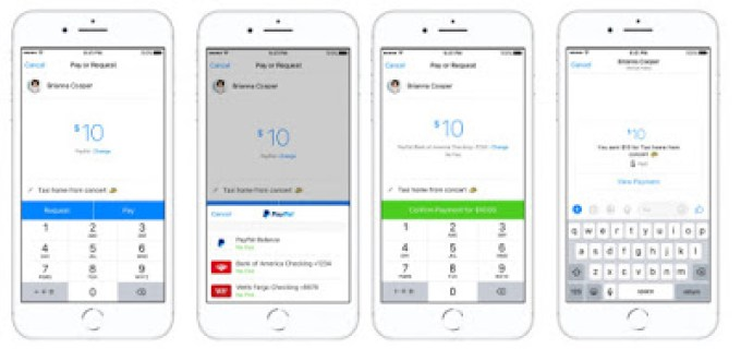 paypal fund using messenger