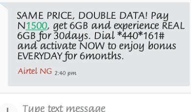 Airtel Data Offer, Get 1.8MB  For N500 Airtel-double-data