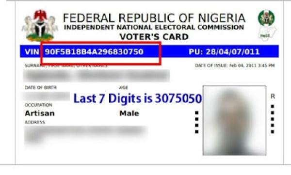 sample voters card