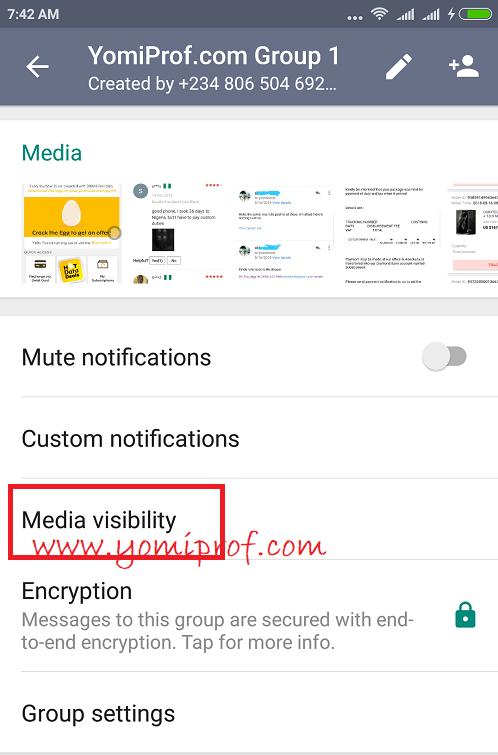 whatsapp group media