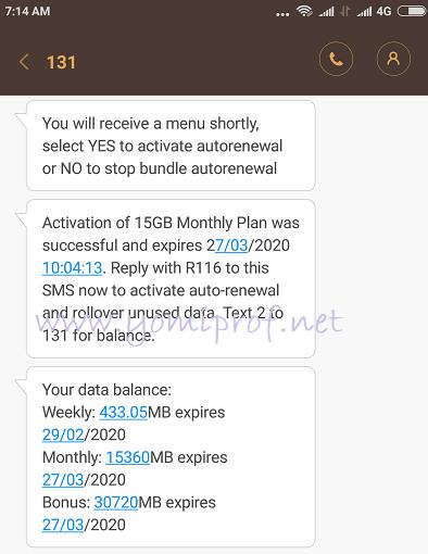MTN Triple data offer
