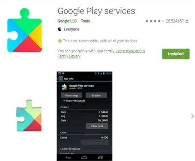 Google play service fixes error