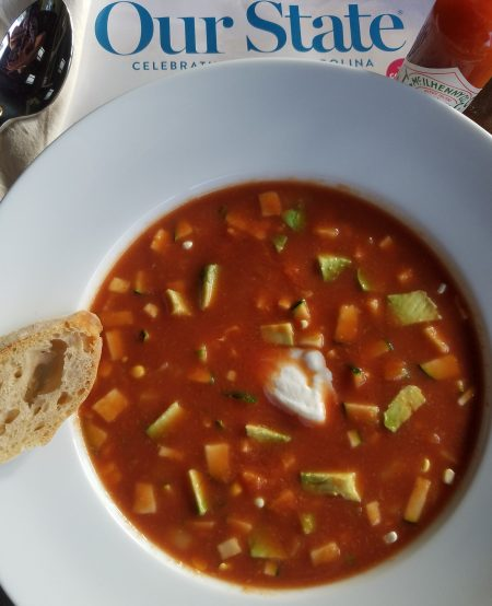 Gazpacho Is A Cold Summer Soup Full Of Fresh Vegetables