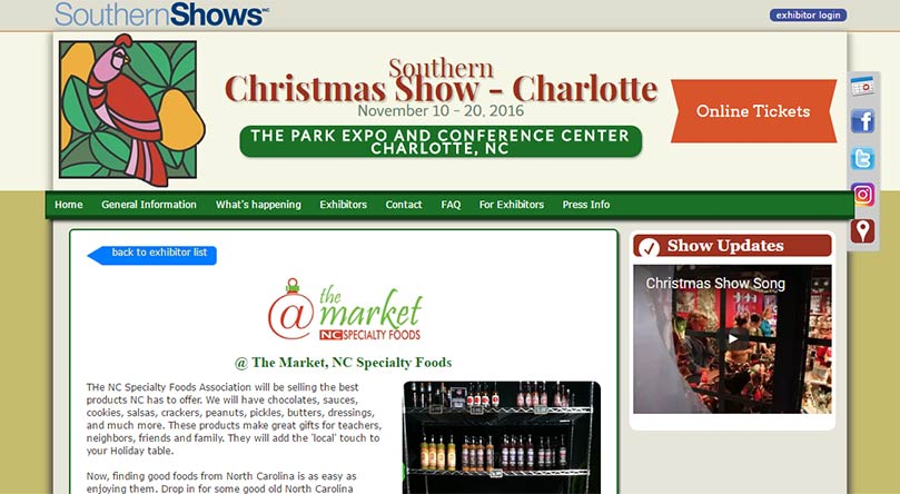southern christmas show website