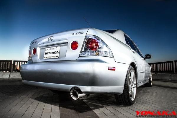 lexus is300 2001 2005 axleback exhaust