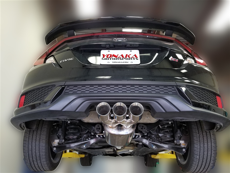 yonaka 2017 2020 honda civic si 2dr coupe 3 catback exhaust