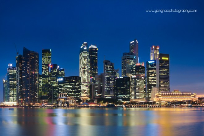 Singapore CBD Skyline from MBS Perspective