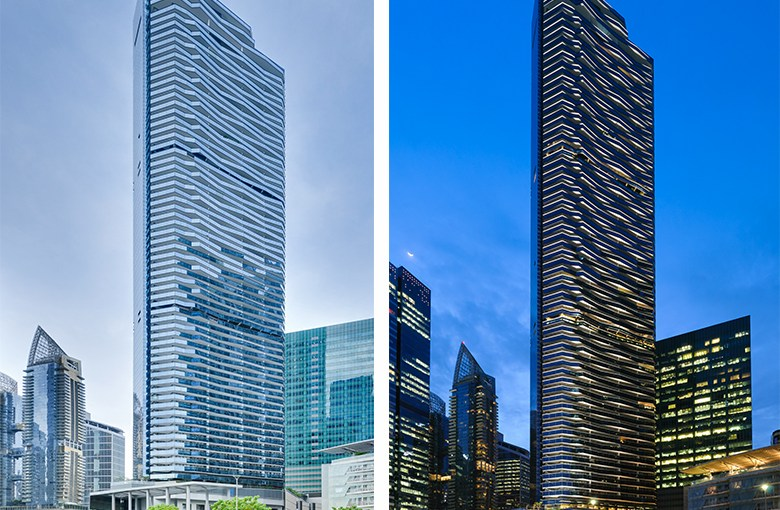 Architectural Photography of Marina Bay Suites for Woh Hup