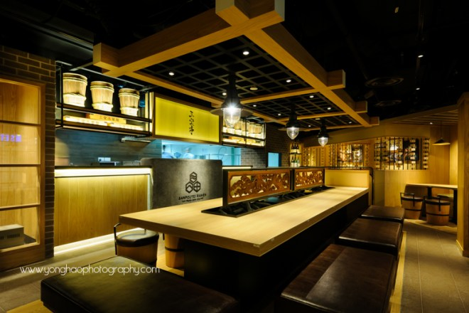 Interior photography of Sanpoutei Ramen by Yonghao Photography