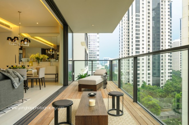 ardmore three, wheelock properties,  condo showflat, yonghao photography,  balcony