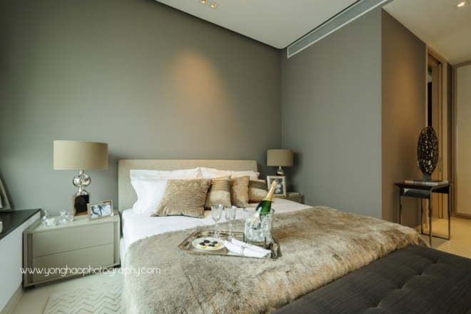 ardmore three, wheelock properties,  condo showflat, yonghao photography,  master bedroom