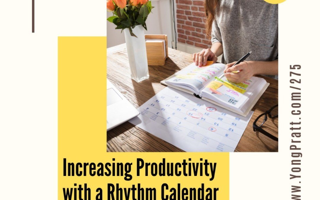 Increasing productivity and time management with rhythm calendars