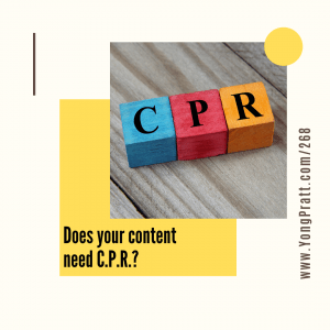 Amplify Your Awesome™ Podcast - Does your content need c.p.r.