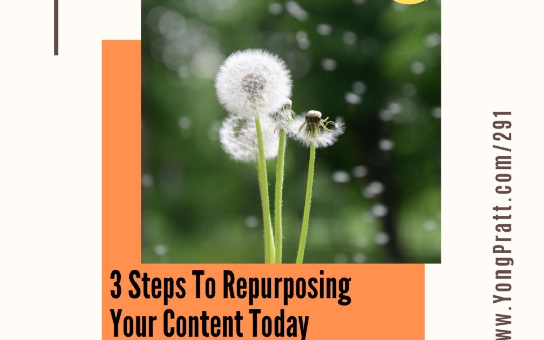 3 Steps To Start Repurposing Your Content Today