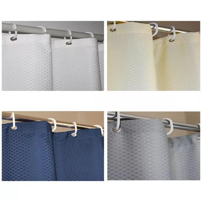 rideau de douche etanche resistant anti moisissure polyester deperlant 150x200 cm bleu