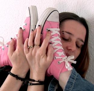Meine geilen rosa Chucks