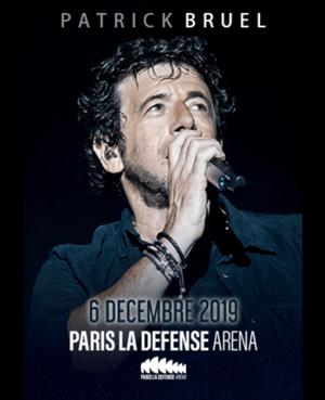 Concert de Patrick Bruel le 6 décembre 2019 a paris la defense arena