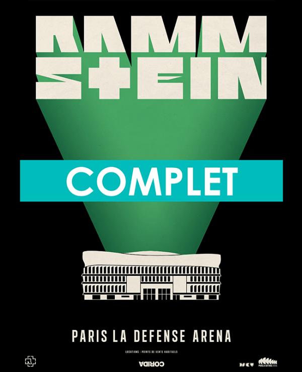 Concert Rammstein a Paris La Défense Arena - COMPLET