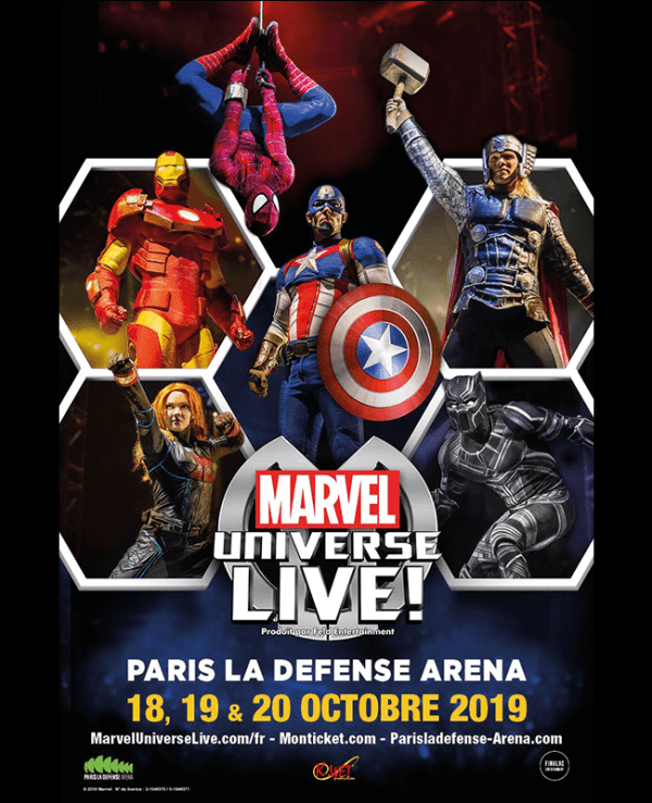 Marvel Universe Live a Paris la defense arena