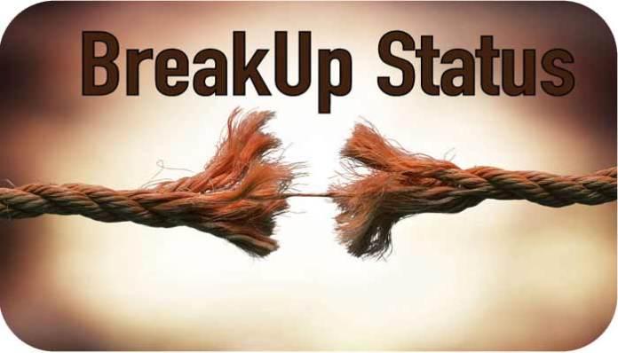 Breakup Whatsapp Status