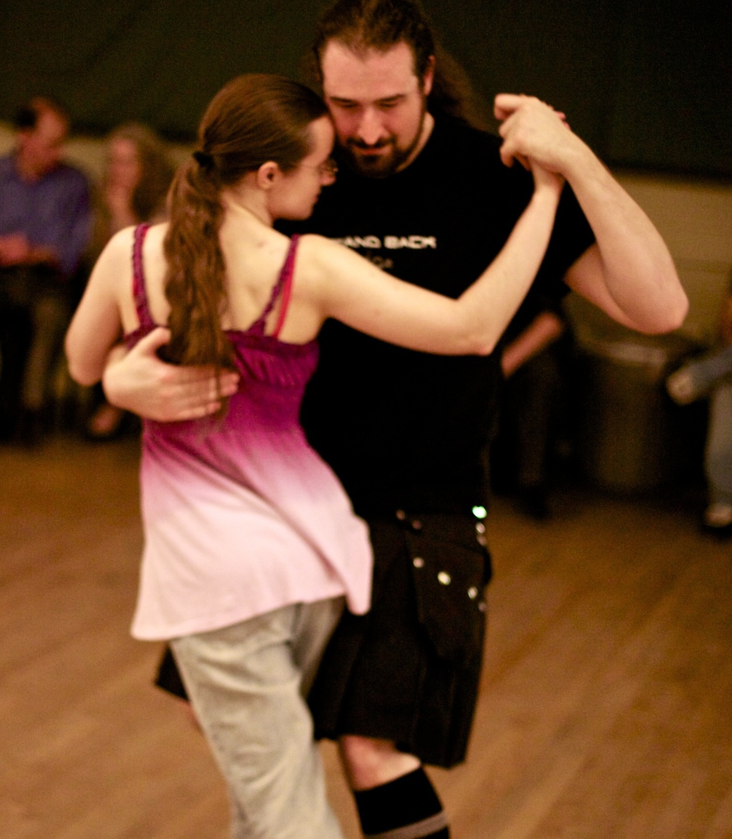 A smaller, healthier me and my close friend Dash dance tango, photo from 2012
