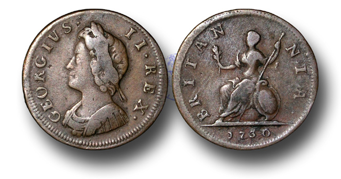 George II Copper Farthing