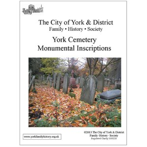York Cemetery Monumental Inscriptions