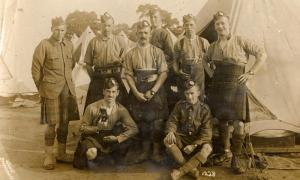 Soldiers from the Royal Scots at Strensall Camp, York.