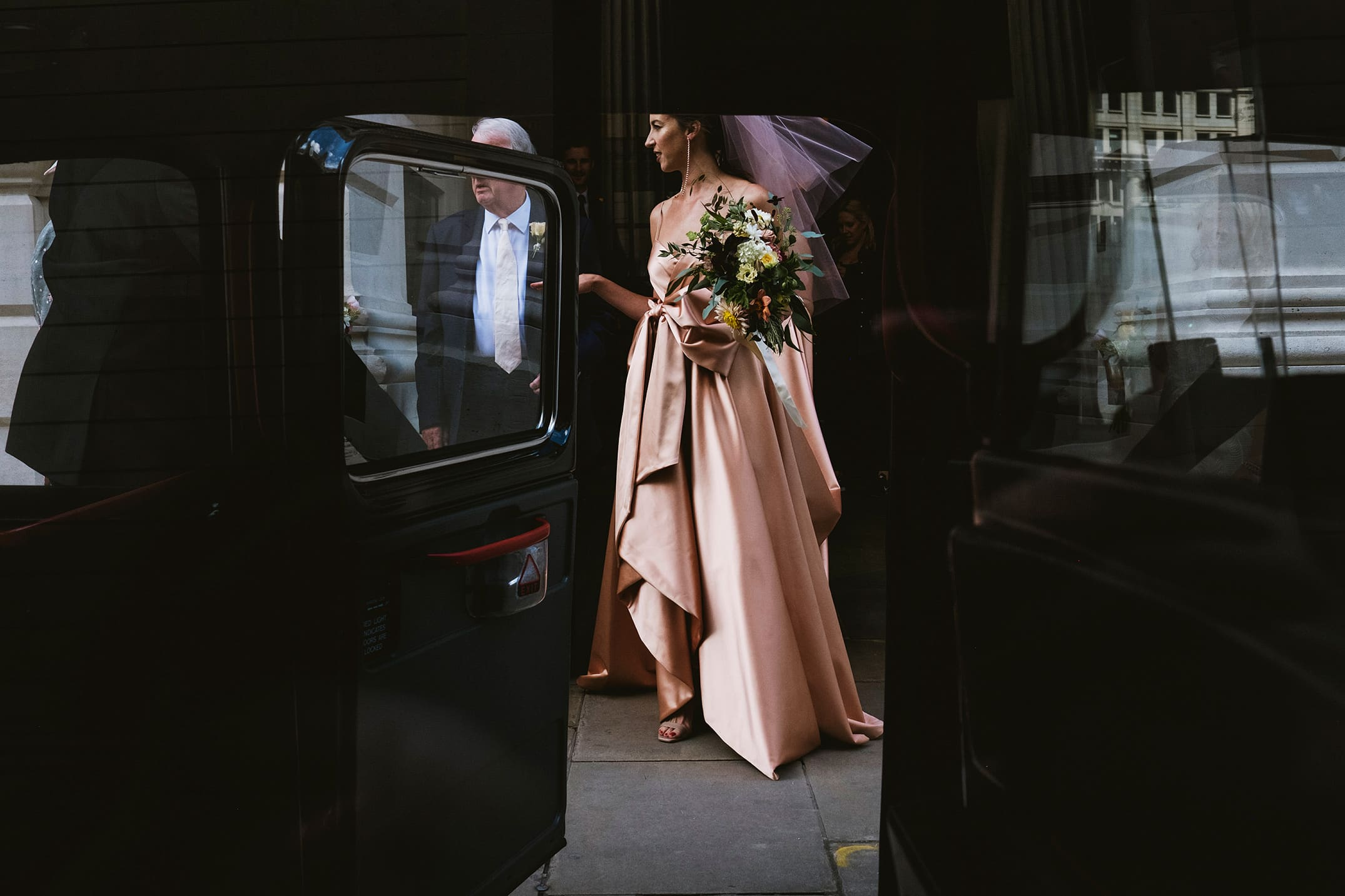 The Ned Wedding Photography London Gucci Bridal Dress